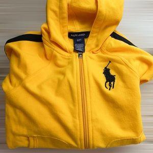 Ralph Lauren Big Pony Full Zip Hooded Sweatshirt